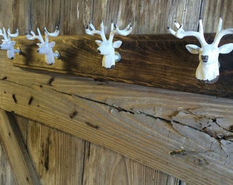 Rustic Deer Hunter Coat Rack Hat Rack Key Rack