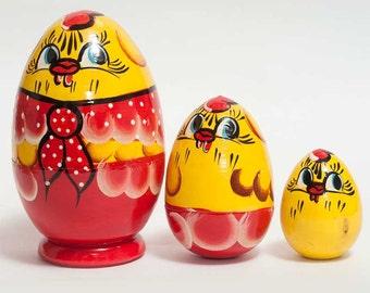 Nesting dolls Little Chickens egg for kids - kod39p