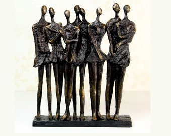 Group of Spectators Abstract Sculpture, Antique Bronze Finish - 337911
