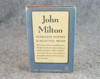 Complete Poetry And Selected Prose Of John Milton C. 1950
