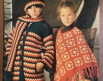 RARE Vintage Crochet Patterns Vintage Patons 596 ponchos jackets vests crochet 1970s