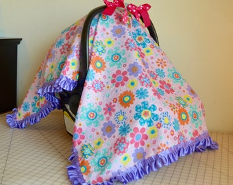 Lightweight Car Seat Canopy Girl