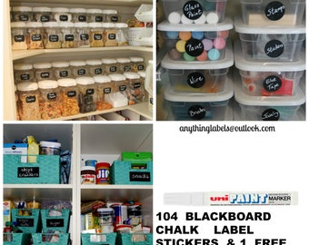 104  MIXED  LOT   CHALK   Blackboard    Vinyl   Sticker   Labels.  Decal.  Decor.  Australia