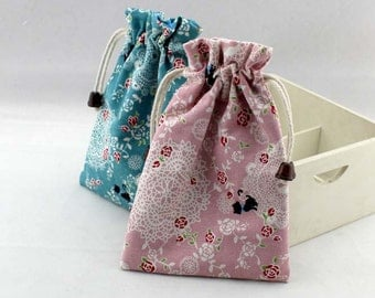 Coin purse/Drawstring Bag/Collecting bag/Pouch/drawst/pink  blue coin bag - BB359