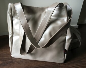 Huge leather tote bag, this leather purse is an excellent baby bag or travel bag, handmade with strong handles. Super large leather Tote Bag