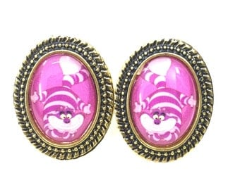 Cheshire Cat Of Alice In Wonderland Earring (No.1)