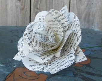Twilight Saga Book Page Paper Flower Rose - handmade flower - Stephenie Meyer Twilight, New Moon, Eclipse & Breaking Dawn