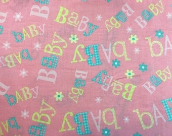 Baby cotton fabric, baby material, nursery fabric, nursery material, fabric by the yard, quilting fabric, nursery material