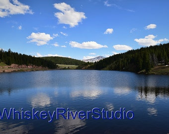 Black Lake Vail Pass print. Canvas photo print. Canvas Photography. Wall Art. Home Decoration. 11x14