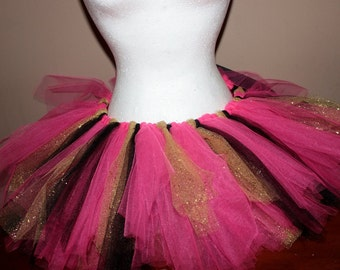 Pink, Black and Gold Sparkle Tutu