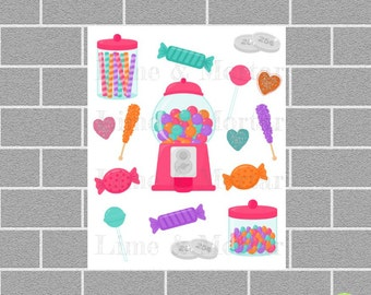 Lolly Shop Planner Stickers