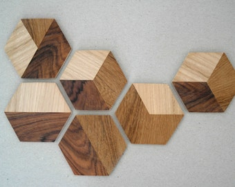 TANGRAM ///  Inlaid Coasters