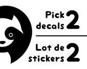 Pick 2 vinyl decals design and save money - print deal sale - Japan inspired vinyl decals set - Made in France
