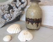 Speckled African vase. Clay vase. Tribal markings. Tribal decor. African decor. African vase. Flower vase. Small vase. Floral vase. Grey