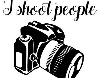 I shoot people - photographer coffee mug