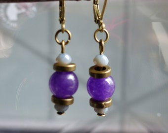 Earrings violet Tini