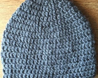 Grey Alpaca Winter Hat