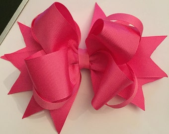Large hot pink boutique bow