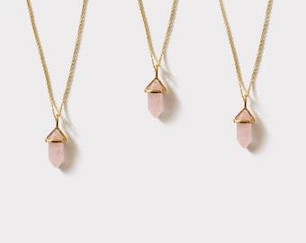 Necklace pendant with mini quartz