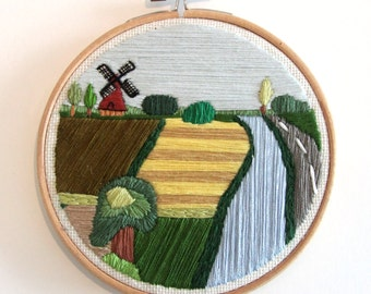 Landscape   Embroidery art