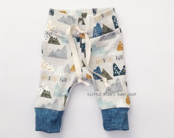 baby boy leggings, baby boy, baby boy pants, drawstring pants, organic baby pants, baby boy clothing