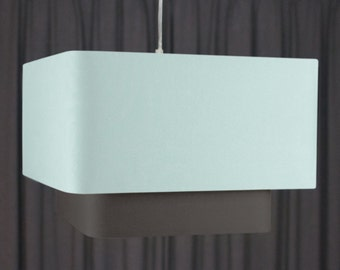 Double square lampshade 'Seafoam/Charcoal 50'