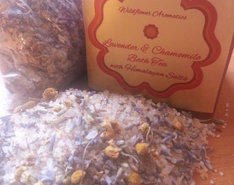 Lavender & Chamomile Bath Tea with Himalayan Salts and Coconut oil
