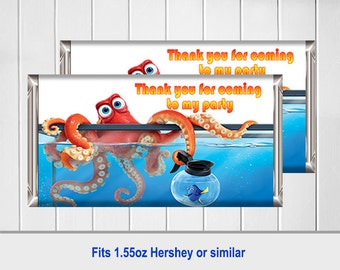 Finding Dory Candy Wrappers, Candy Wrappers, Fit 1.55oz Hershey Bars or similar - You Print and Save