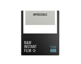 "Black & White Instant Film for 600 by ""The Impossible Project"" for Polaroid Cameras"