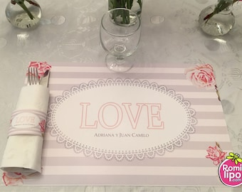 wedding placemats set of 25 placemats with napkin wrappers wedding weekend place mats