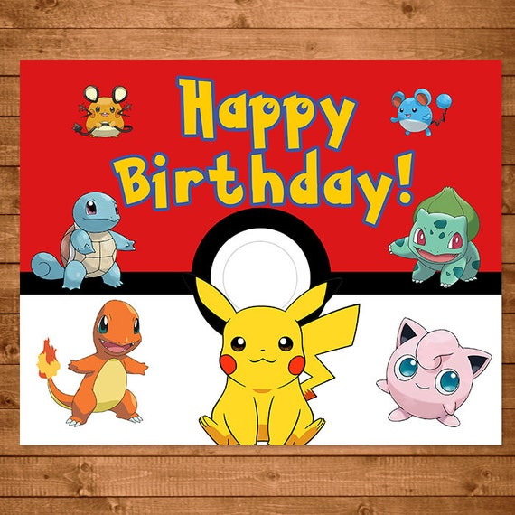 Unusual image for pokemon birthday card printable