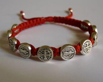 St.Benedict bracelet - (silver medal)