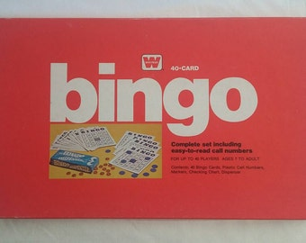 Vintage 1974 Whitman Bingo 40 Player Board Game Complete Set with *FREE Shipping*