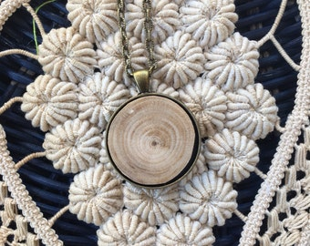 Organic Wood Essential Oil Diffuser Necklace