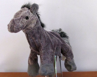 Gray Horse hand Puppet by The Puppet Patch
