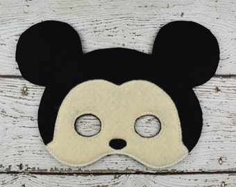 Mr. Mouse Children's Felt Mask  - Costume - Theater - Dress Up - Halloween - Face Mask - Pretend Play - Party Favor