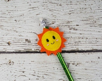 Sunshine Pencil Toppers - Classroom Prizes - Party Favor - Party Supplies - Small Gift - Back to School
