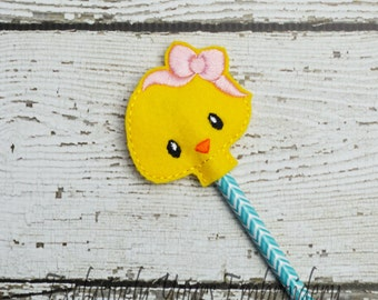 Girl Chick Pencil Toppers - Classroom Prizes - Party Favor - Party Supplies - Small Gift - Back to School