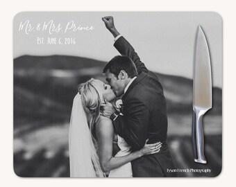 Wedding Cutting Board, Personalized Cutting Board Wedding Gift, Personalized Wedding Gift, Glass Cutting Board, Custom Photo Wedding Gift