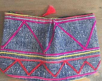 Vintage, Hmong, Batik, clutch