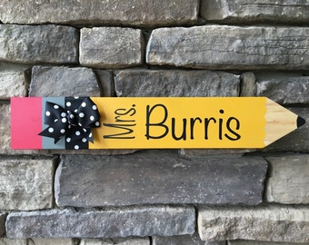 Personalized Wooden Teacher Sign