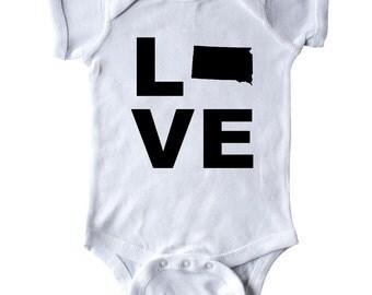 Love South Dakota Infant Creeper by Inktastic