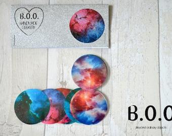 Nebula Transparent Sticker Set - 9 Piece