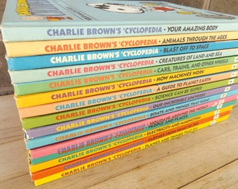 Complete Set Charlie Brown's Cyclopedia Books / Volume 1-15 / Educational Bookset / Children's Books (#361)
