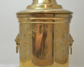 Vintage Bronze Urn with lid and lion head handles