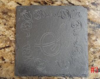 Custom Engraved Slate Coasters #3 (Set of 4)