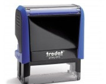 Text & Address Self inking stamp 56mm x 22mm