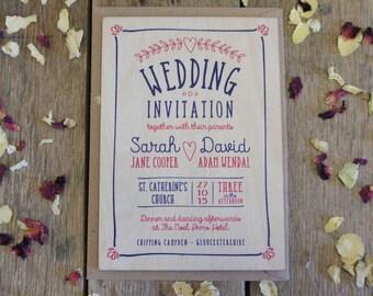 Wooden Invitations | Etsy