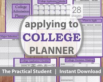 College Application Planner, College Planning, College Planner, College Student Planner, Student Planner, High School Planner, School Plan