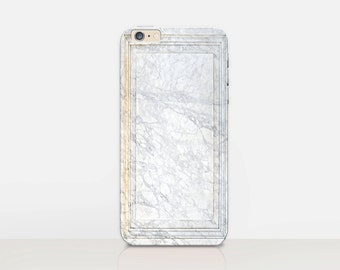 White Marble Print Phone Case For- iPhone 8, 8 Plus, X, iPhone 7 Plus, 7, SE, 5, 6S Plus, 6S, 6 Plus, Samsung S8, S8 Plus, S7, S7 Edge